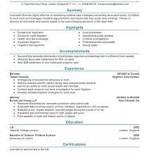 Attorney Resume Templates Litigation Attorney Resume Sample Resume ...