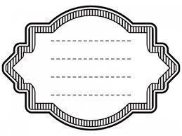 縦線ラベル風白黒デザイン飾り枠フレームイラスト02 無料イラスト