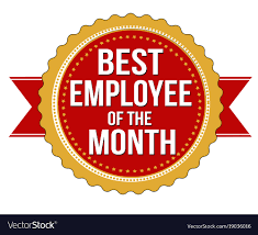 employee of month employee of the month label or stamp