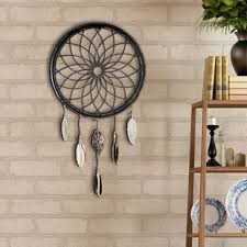 art decor dreamcatcher wheel feathers wall d cor on metal wall art shabby chic with vintage shabby chic wall decor wayfair