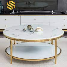 white round marble top coffee table