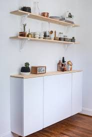IVAR cabinet white (painted white) - 5 different IVAR IKEA hacks!- maybe  for a trashcan cabinet.