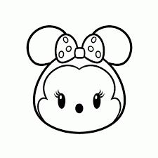 Minnie Mouse Kleurplaat