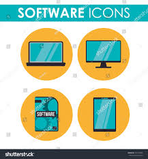 Graphic Design Software Icons Software Icons Concept Technology Icons Design Stock Vector
