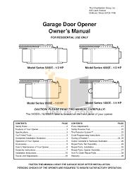 chamberlain garage door opener manualDownload free pdf for Chamberlain 3112E FS2 Garage Door Openers