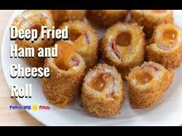 Deep Fried Ham And Cheese Roll Youtube