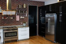 Small Picture Kitchen Awesome Brick Wall Images With Red Tile Pattern Black