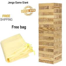 jenga game giant yard big large wood block picnic party pool tower lawn outdoor 1 of 12free see more