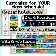 Reading Center Rotation Chart Digital Rotation Boards For Reading Math Bundle