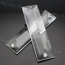 two holes clear chandelier crystal lighting prisms hanging glass triangle pendants