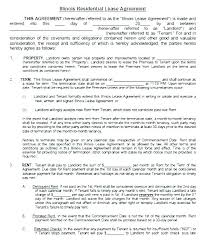 Residential Lease Contract Rental Lease Template