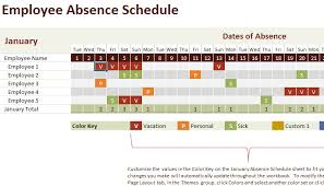 Group Planning Calendar Employee Absence Schedule