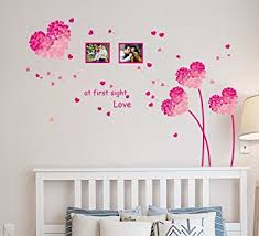 Small Picture Buy Decals Design Heart Shaped Flowers with Blowing Petals PVC