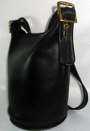 Vintage Coach Black XTRA LARGE BUCKET Bag Tote by newprairiestore,  140.00