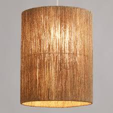 Tall Woven Jute Drum Floor Lamp Shade
