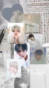 V BTS white aesthetic wallpaper в 2020 ...