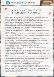 Annotated Bibliography Example Apa Format Nonlogic