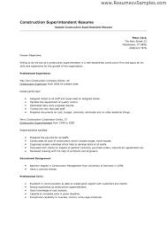 Sample Resume For Construction Superintendent Construction Superintendent Resume Resume And Cover Letter 8