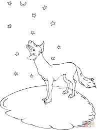 Small Picture Howl at the moon coyote coloring page Free Printable Coloring Pages