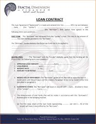 Loan Agreement Form Sample Elegant Loanreement Letter Free Personal ...