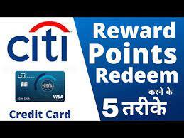 citibank credit card rewards points