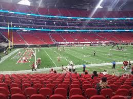 Mercedes Benz Stadium Section 132 Atlanta Falcons