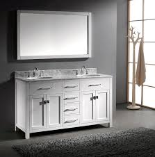 60 inch double sink vanity. virtu usa md-2060-wmro-wh caroline 60-inch bathroom vanity with double round sinks in white and italian carrera marble - amazon.com 60 inch sink .