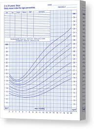 Body Mass Index Chart Canvas Print