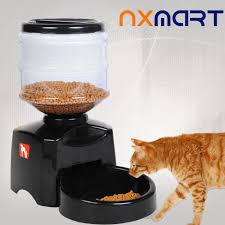 5 5l automatic lcd screen pet feeder pet food dispenser with message recording cats dogs