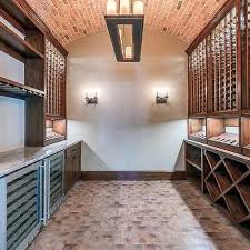 basement with rustic wine cellar