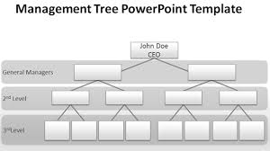 Management Chart Template Blank Org Chart For Powerpoint Presentations