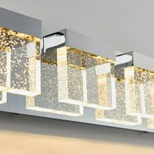 Artika 4 Light Crystal Cube Wall Modern Fixture