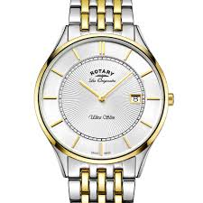 rotary watches ladies gents fine watches women s watches mens rotary ultraslim men s two tone gold swiss watch