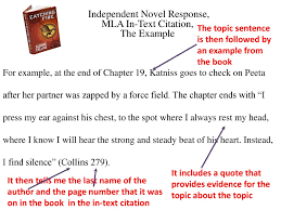 Independent Novel Response Mla In Text Citations The Example Ppt