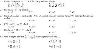 Berikut ini saya bagikan perangkat pembelajaran matematika smp kurikulum 2013 kelas vii (revisi). Kisi Kisi Soal Dan Kunci Jawaban Matematika Smp Kelas 7 Pas Semester Ganjil Didno76 Com