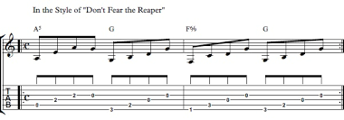 don t fear the reaper sheet music how to play dont fear the reaper on guitar blue oyster cult dont