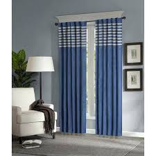 literarywondrous inch girls navy blue grey rugby stripes curtains panel pictures ideas