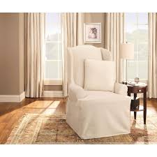 sure fit cotton duck wing chair slipcover today overstock 2177484
