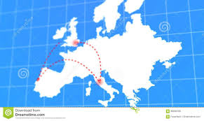 Animated Travel Map Animated Travel And Business Trip Infographic On White