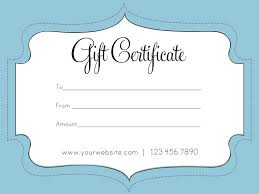 Blank Gift Certificates Templates Blank Gift Certificate