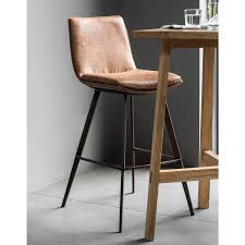 gallery palmer brown faux leather bar stool 2 pack