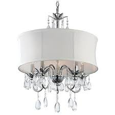 white drum shade crystal chandelier pendant light ashford classics lighting httpwww chandeliers and pendant lighting