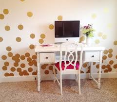large gold polka dot wall decals for home office