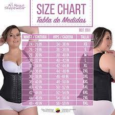Fajas Colombianas Size Chart Pin On Womens Fashion Accessories
