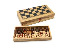 Wooden Strategy Games Chess Backgammon Classic Games Kids 96