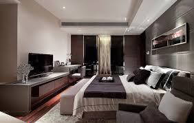 modern master bedroom. Beige Fur Rug Fitted Black Table Modern Master Bedroom Color Ideas White Bedding Set Combined Gray Storage Drawers Underneath R