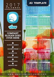 one page calender one page calendar 2017 template hafer co