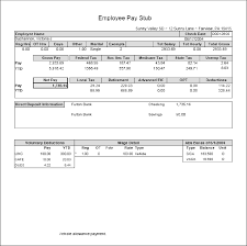 create paycheck stub template free free fake doctors note template download template business