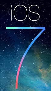 ios 7 logo with galaxy background
