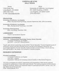 a curriculum vitae format academic curriculum vitae template in word pdf